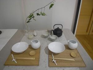 波佐見焼―秋はきのこ茶漬けを